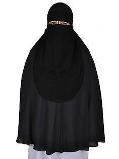 Niqab - Hijab Gesichtsschleier Burka Khimar Islamische Kleidung Gebetskleidung