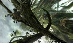 Concept Art by Khang LE. Khang Le is the Creative Director of Adhesive Games. Matte Painting, Jack The Giant Slayer, Environment Concept Art, Fantasy Art, Fairy Tales, Cool Art, Digital Art, World, Design