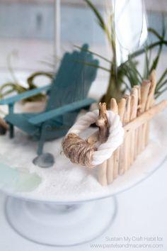 Learn how to make a diy fairy garden. beach fairy garden idea you'll love