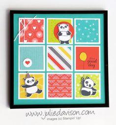 Stampin' Up! Sale-a-Bration 2018 Sneak Peek: Party Pandas Sampler Frame + Unboxing Video ~ www.juliedavison.com