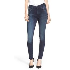 rag & bone/JEAN High Rise Skinny Jeans (3,320 MXN) ❤ liked on Polyvore featuring jeans, st germain, white jeans, high waisted white skinny jeans, zipper skinny jeans, highwaisted jeans and white skinny jeans