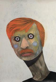 Guim Tió Zarraluki Lobb - 2013 Mixed media on poster 66 x Outsider Art, Warhol, Painters, Mystery, Mixed Media, Spain, Guy, Faces, Bohemian