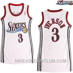http://www.nikejordanclub.com/allen-iverson-philadelphia-76ers-3-white-women-jersey-discount.html ALLEN IVERSON PHILADELPHIA 76ERS #3 WHITE WOMEN JERSEY DISCOUNT Only $69.00 , Free Shipping!