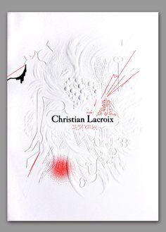 embossed Lacroix invite - Antoine et Manuel