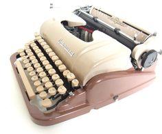 vintage typewriter working underwood two toned 1950 typewriters 1960 vintage typewriter bohemian decor rustic wedding decor gift for writer