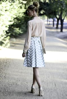 A bold print like a chevron (the darling of the season) is powerful enough on its own to spark a backdrop of neutrals.