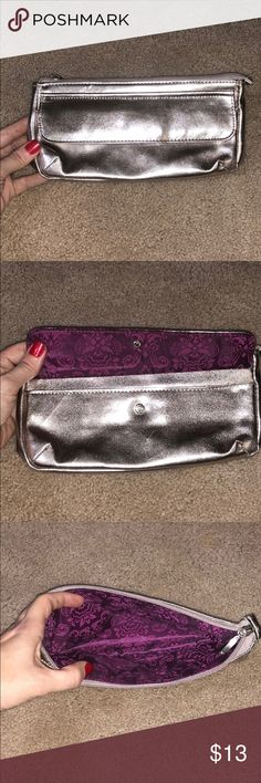New Never used Silver Clutch/Makeup Bag New Never Used Silver Clutch/Makeup Bag Bags