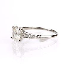 Leigh Jay Nacht Inc. - Replica Art Deco Engagement Ring - 3082-11