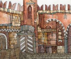 "Saatchi Art Artist Dmitri Albert; Drawing, ""Citadel"" #art"