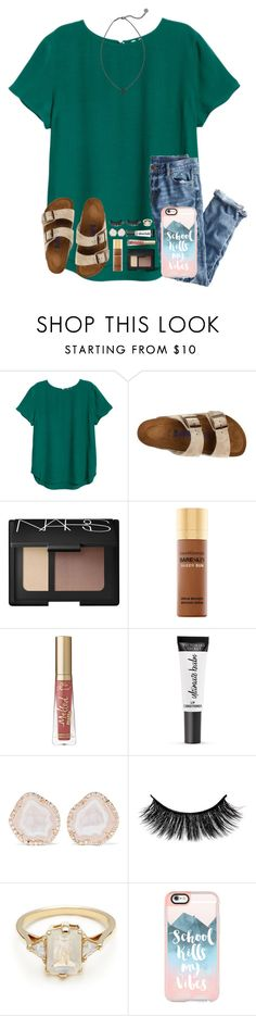 """Mercy Video Tomorrow!!! Soooo excited "" by kari-luvs-u-2 ❤ liked on Polyvore featuring J.Crew, Birkenstock, NARS Cosmetics, Bare Escentuals, Too Faced Cosmetics, Victoria's Secret, Kimberly McDonald, BEA, Casetify and Kendra Scott"