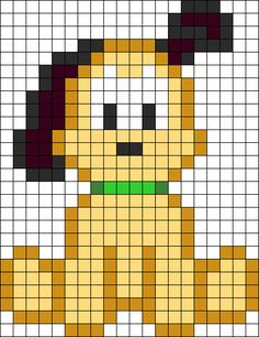 Baby Pluto Perler Bead Pattern - Crochet / knit / stitch charts and graphs