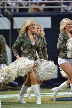 Rams Cheerleaders showing their support for U.S. military men and women at the Nov. 18 game