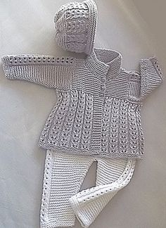 Ravelry: Quick knit baby jacket, pants and matching hat P047 pattern by OGE Knitwear Designs