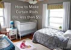 how to make cheap curtain rods naptimediy.com by NaptimeDIY, via Flickr