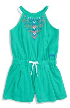 Roxy 'Summer Rain' Embroidered Romper (Baby Girls) available at #Nordstrom