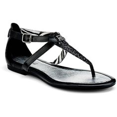 Sperry Top-Sider Summerlin Thong Sandal ($55) ❤ liked on Polyvore featuring shoes, sandals, flats, sapatos, zapatos, leather thong sandals, toe thong sandals, summer sandals, sperry shoes and toe thongs