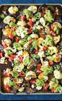 STYLECASTER | Healthy Winter Comfort Food | Comfort Food Dinners | Healthy Recipes | Cauliflower Nachos