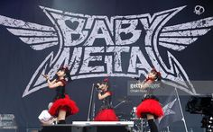 Yuimetal, Su-metal and Moametal of Babymetal perform on Day 2 of the Reading Festival at Richfield Avenue on August 29, 2015 in Reading, England.