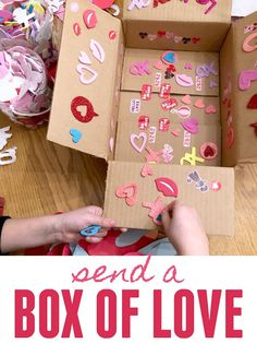 Kindness Challenge: Send a Box of Love Toddler Valentine Crafts, Diy Valentines Cards, Kindness Elves, Kindness Challenge, Crafts For Kids To Make, Kid Crafts, Valentine's Day Printables, Toddler Gifts, Cool Gifts