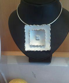 Silver pendant handmade