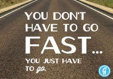 Next time I feel discouraged by how slow I am... I will remember this!