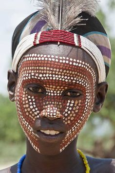 ideas photography nature people africa for 2019 African Tribes, African Women, Black Is Beautiful, Beautiful People, Tribal Makeup, Tribal Face, Africa People, Graphisches Design, Arte Tribal