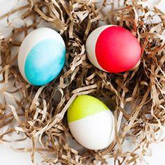 Neon dip-dyed eggs.  Simple.