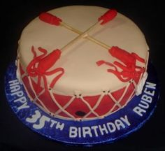 This would make an awesome groom's cake. Native American drum cake.