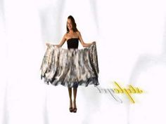 Magic double layered wrap skirt - worn about 30 different ways. What's sad about this is that I OWN one of these and only thought it was a skirt!!! :D