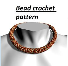 Bead crochet pattern for necklace - pinned by pin4etsy.com