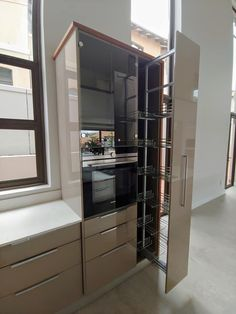 Great for neat storage and easy access. Kitchen Spice Racks, Kitchens, Kitchen Appliances, French Door Refrigerator, Easy Access, French Doors, High Gloss, Living Spaces, Nova