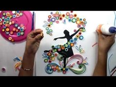 Quilled Ballet Dancing Girl | Magic Quill - YouTube