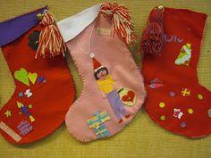 felt stockings Felt Stocking, Christmas Stockings, Holiday Decor, Home Decor, Art, Needlepoint Christmas Stockings, Art Background, Decoration Home, Room Decor