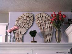 My So-Called DIY Blog: Angel Wings From Cardboard