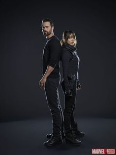 Brett Dalton and Chloe Bennet star as Grant Ward and Agent Skye in Marvel's Agents of S.H.I.E.L.D.