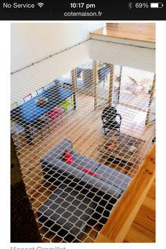 trampoline intérieur