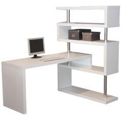 L  Desk Matte White