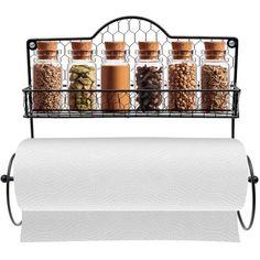 Sorbus Paper Towel Holder, Spice Rack and Multi-Purpose Shelf