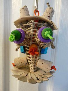 Hooty  Owl Parrot Bird Toy  by crystalsbirdtoys