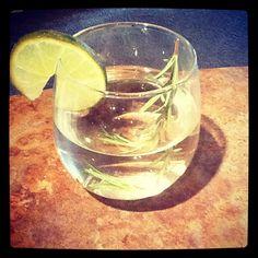 Rosemary Lime water - refreshing...