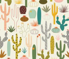 Mod Desert Garden custom wallpaper by katerhees for sale on Spoonflower Grey Wallpaper, Wallpaper Iphone Cute, Custom Wallpaper, Wallpaper Roll, Mac Wallpaper Desktop, Galaxy Wallpaper, Wallpaper Backgrounds, Subtle Textures, Cool Patterns