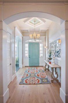 My dream home! House of Turquoise: Highland Custom Homes door color perfection. Just sayin' Home Design, Flur Design, Design Design, Design Room, Urban Design, Modern Design, House Of Turquoise, Turquoise Door, Teal Door