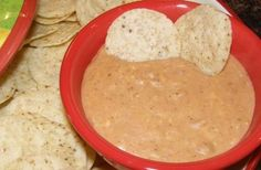 Crock Pot Bean Dip. Trying this now (some alterations so we'll see how it goes) ;)