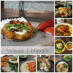 Whole30 Week 1 Meals
