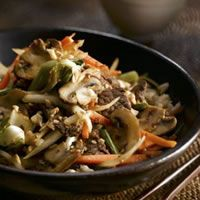 Ginger Beef and Mushroom Stir-Fry: A tasteful delicious dish within no time. Check out for the ingredients and healthy nutritional facts.
