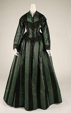 Dress  Date: ca. 1870 Culture: American Medium: silk Dimensions: Length at CB (a): 23 1/2 in. (59.7 cm) Length at CB (b): 47 in. (119.4 cm)