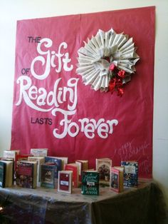 """The Gift of Reading Lasts Forever"" by Glee Stormont, Kailua Intermediate School library."