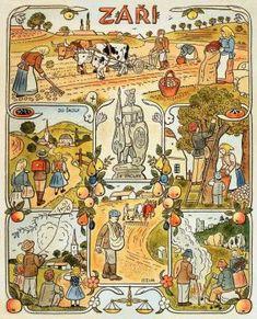 A 63 pieces jigsaw puzzle from Jigidi Typography Prints, Children's Book Illustration, Artist Names, Four Seasons, Childrens Books, Illustrators, Folk Art, Vintage World Maps, Retro