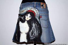 """MADONNA: Gonna dipinta ispirata alla """"Madonna"""" di Munch"""