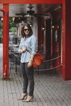 GAP chambray and jea